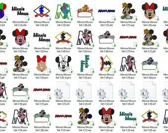 Disney's Minnie Mouse Set 3 Embroidery Design