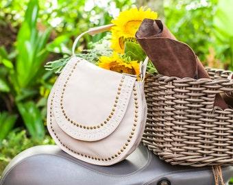SALE. NEW HAWAII. Leather crossbody bag / leather purse / leather bag / saddle bag / leather boho bag.