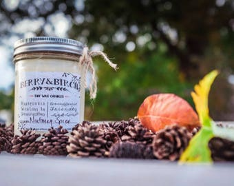 TEAKWOOD & COCONUT Soy Candle-Non-Toxic-Eco-Friendly-Renewable
