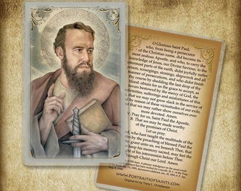 St. Paul the Apostle Holy Card or Wood Magnet  #0151