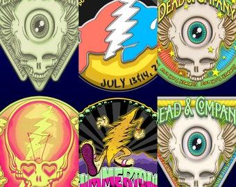Grateful Dead (& Company) Sticker Assortment Summer Tour 2018
