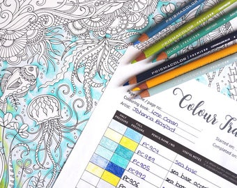 Color Tracker Colour Coloring Book Colouring Chart