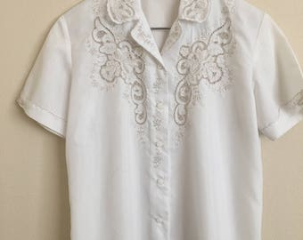 Vintage Chinese Embroidered Blouse