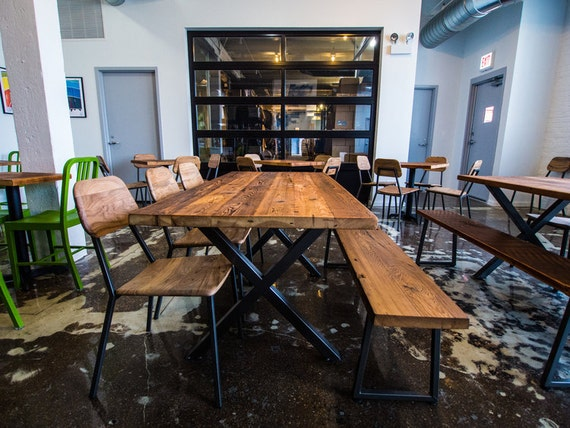 Reclaimed Wood Dining Table Bar Rustic