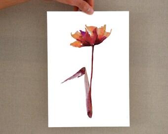 Modern abstract flower print, flower wall art print, modern flower print, watercolor flower print, colorful flower print, flower art, prints