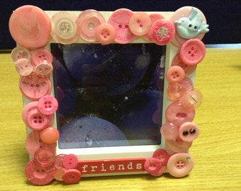 Button Friend Photo Frame