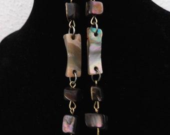 Vintage Rainbow Stone Dangle Earrings