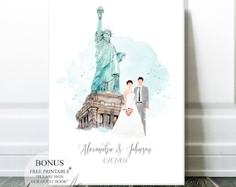 Wedding Guest Book Alternative Wedding Canvas, Wedding Signs Guest Book Sign Wedding Gift Bridal Shower Guestbook Ideas Wedding Keepsake