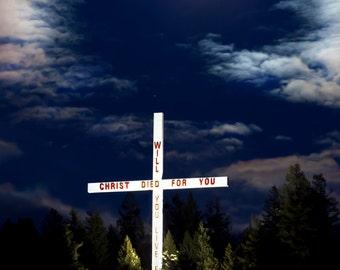 The Cross near Bigfork Montana, John Harwood Photography, Jesus, Christmas gift, reason for the season, spiritual, God, faith, house warming