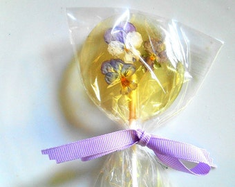 Gourmet Liquor Champagne Lollipops, Cordial Alcohol Choice Viola, Edible Giant Lollipops, Candied Real Flowers, Wedding Favors,Lollipops