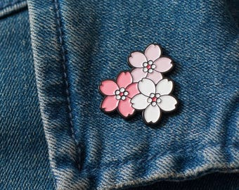 Sakura Cherry Blossom Enamel Pin – Cherry Blossoms – Flowers – Lapel Pin – Japanese