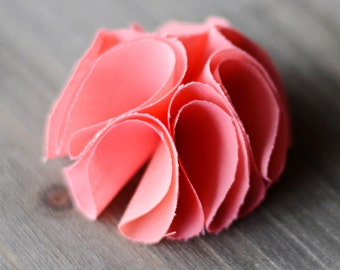 coral / choose colors / wholesale shabby chic fabric flowers / wedding flowers / embellishments appliques diy supplies / headband flowers