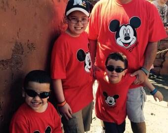 Boys Disney Shirt, Mickey Mouse Family Shirt, Custom Mickey Family Shirts, Disney Family Shirts, Free Shipping
