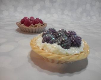 Blackberry Pie Soap - Blackberry Tart Soap - Decorative Dessert Soap - Handmade Party Favor -  Unique Faux Food Gift - Shea Butter Soap