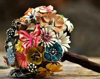 CUSTOM Bridal Jewelry Brooch Bouquet - to fit your colors, style & budget OOAK, vintage wedding bouquet