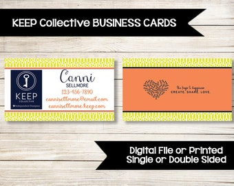 KEEP COLLECTIVE | Business Cards | Custom | Printed | Jewelry | Direct Sales | Keys