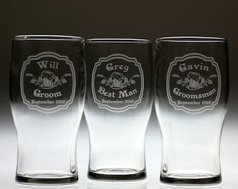 Custom Groomsmen gift glass set of 3 with Old fashion label theme,Groomsmen gift,father of groom gift,best man gift,groom gift,lgbt wedding