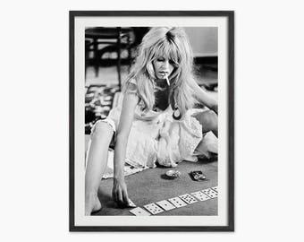 Brigitte Bardot Playing Cards Art Print