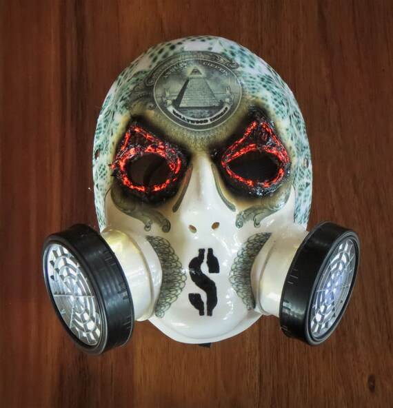 Hollywood Undead J Dog Mask With Lights