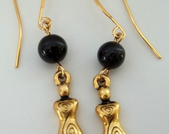 Gold Goddess Earrings,