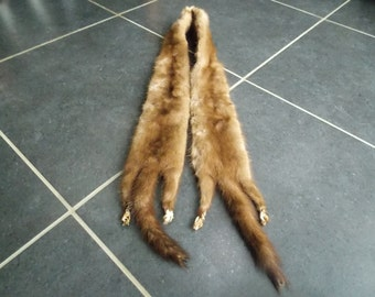 Vintage French Mink Fur Scalf / Collar french fashion clothing