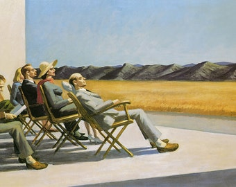 People in the Sun by Edward Hopper Home Decor Wall Decor Giclee Art Print Poster A4 A3 A2 Large Print FLAT RATE SHIPPING