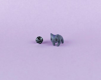 BLACK PANTHERA JEWELRY - Marvel jewelry earrings - gift for geek comics lovers - avengers jewelry earrings - infinity war jewelry earrings