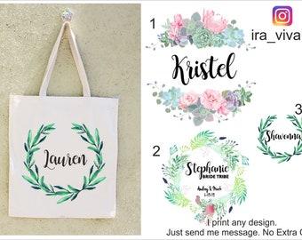 Bridesmaid Bags, Bridesmaid Tote Bags,Bridesmaid Bag,Wedding Tote Bags, Bridal Party Gifts,Bride,Wedding Gift, Custom Tote Bag, Bachlorette