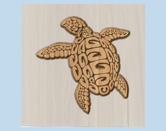 WOOD WALL ART ~ Turtle Wood Carving ~ Wooden Turtle Decor ~ Turtle Wall Hanging ~ Turtle Lover's Gift ~ Unique Wall Turtle ~ Cabin Decor