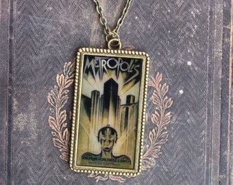 Metropolis poster necklace