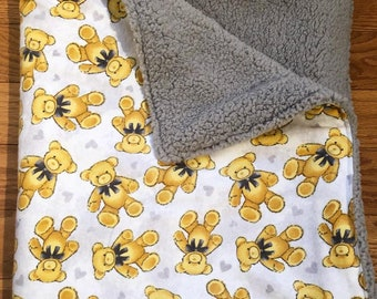 Luxe Teddy Bear Baby Blanket