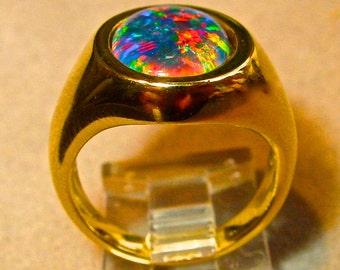 Mans opal ring Etsy