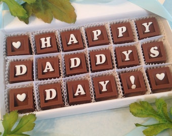 Happy Fathers Day Chocolates - Gift for Daddy - Chocolate Gift For Dad - First Fathers Day Candy - Unique Gift for Dad - Present for Dad
