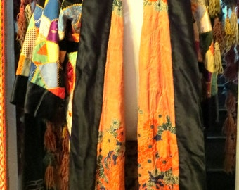 SALE 30s Reversible Silk Patchwork Robe/Coat