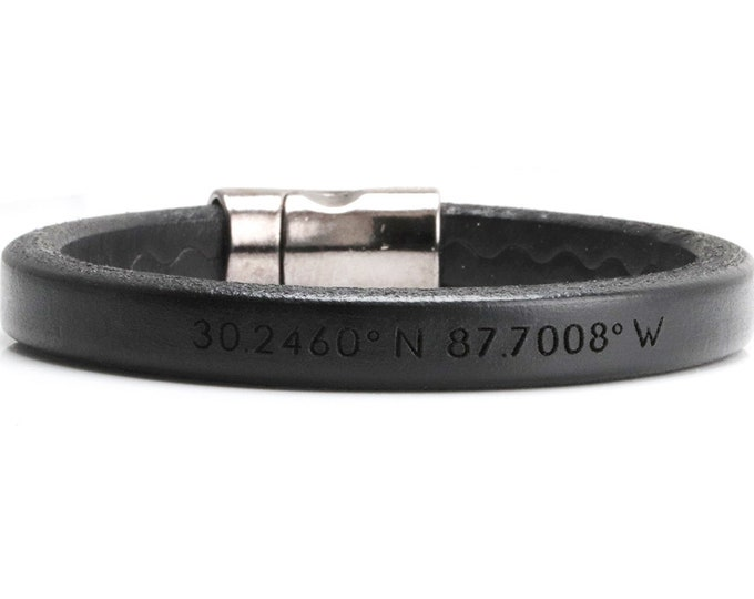 Gps Bracelets for Men, Coordinates Bracelet For Men, Graduation Gift For Son, Long Distance, Custom Coordinates Bracelet, Graduation Gift