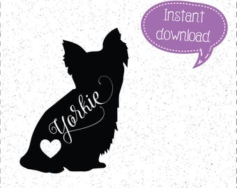 Yorkie SVG, Yorkies, Yorkie SVGs, Yorkies SVGs, Dog SVGs, Dogs SVGs, SVGs, Cricut Cut File, Silhouette File