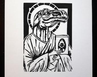 The Prophet- block print