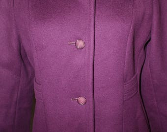 Purple Wool Women's Coat