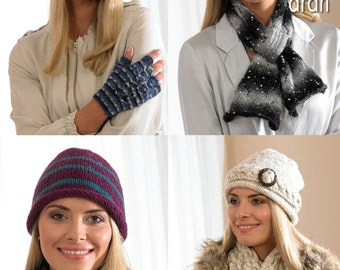 Hats, Scarves, Cowl & Fingerless Gloves Knitting Pattern