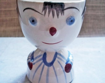 Vintage Double Egg Cup Figural of Boy / Made in Japan