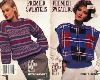 Premier Sweaters - Coats & Clark Book No. 319