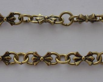 20cm chain knots color bronze antique 16.5x6.5 mm
