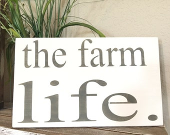 Farm Sign - Farmhouse Style - Farmhouse Sign - Farmhouse Decor - Rustic Decor - Rustic Wood Sign - Hand Painted Sign - Rustic Wall Hanging