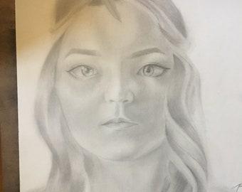 custom portrait drawing (pencil or charcoal)