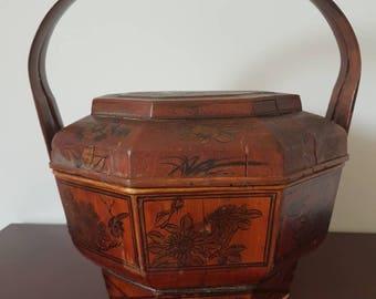 Chinese Antique Rice Wedding Basket