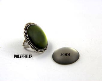 Charcoal grey quality 30mm resin cabochon