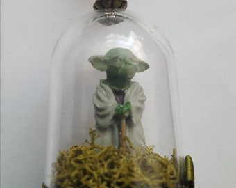 Star Wars Yoda Necklace Handmade, Yoda Jewellery