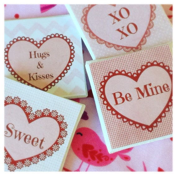 "Valentine Art Canvas Sweet Sayings -2""x2"" canvas- your choice"