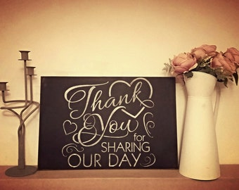 Thankyou Wedding Sign