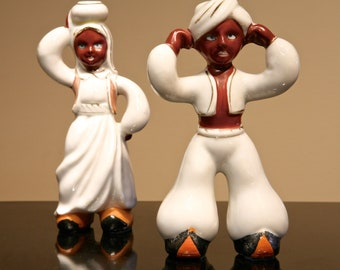 Pair of Ceramic Middle Eastern Figurines